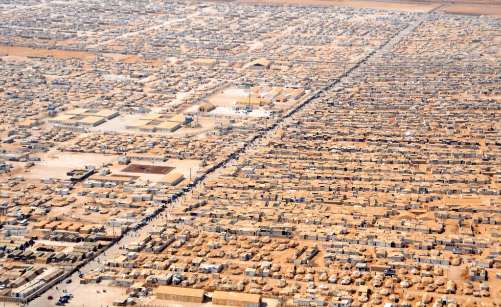 Zaatri camp for Syrian refugees in Jordan